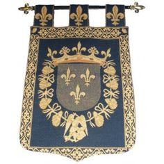 Bannière avec le collier de l' Ordre de St Michel .(Ordre de chevalerie créé par Louis XI en 1469)    Ordre de chevalerie créé par Louis XI en 1469.