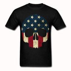 American Skull T shirt