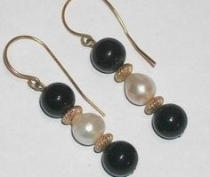 Baroque Pearls with Genuine Black Onyx and by TKSPRINGTHINGS, $169.95