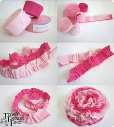 DIY ruffle streamer