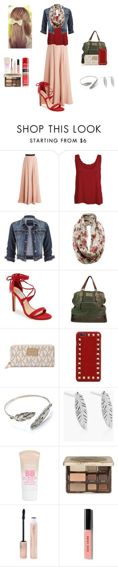 """""""A fall Sunday night"""" by maggiesmelody ❤ liked on Polyvore featuring mode, Roksanda, WearAll, maurices, Steve Madden, Dolce&Gabbana, Michael Kors, Valentino, Alex and Ani en Maybelline"""