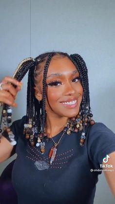 Box Braids Hairstyles For Black Women, Braids Hairstyles Pictures, Black Girl Braids, Braided Hairstyles For Black Women, African Braids Hairstyles, Braids For Black Hair, Girls Braids, Dreads Black Women, Girls Natural Hairstyles