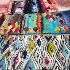 Tammy Kanat Fibre Artist from Melbourne Australia SNEAK PEEK  of my new rug collaboration  with @cadrys @denfair Some of the weaving samples the rugs were developed from.