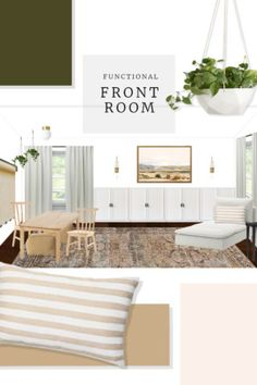A reader shares her design dilemma with her empty front room. Here are my tips to create a functional front room that is family-friendly. Diy Playbook, Neutral Paint Colors, Secret Storage, Pipe Shelves, Mason Jar Diy, Home Look, Built Ins, Family Room, Ikea