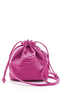 Pink Python Small Drawstring Sac by Hunting Season for Preorder on Moda Operandi