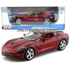 Maisto Special Edition Series 1:18 Scale Die Cast Car - Maroon Sports Coupe 2014…