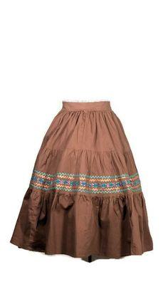 Rockabilly 1960 Full Cotton Skirt #rockabillyskirt #vintageskirt #vintagefashion
