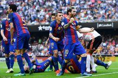 Valencia 2-3 Barcelona: Messi nets last gasp penalty
