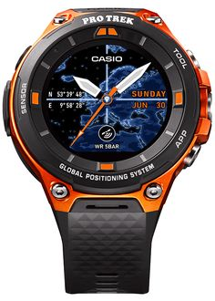 Casio Introducing the Casio Protrek Smart WSD-F20 series featuring Android Wear 2.0, low-power GPS and color map functionality that can be used offline for your most remote outdoor adventures.
