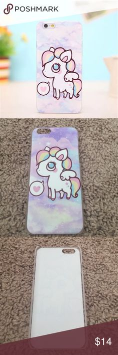 Pony Multicolor Rainbow Pastel Iphone 6 6s Case New never used. Accessories Phone Cases