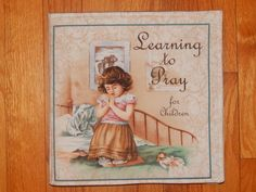 Learning To Pray Children's Cloth Book by CraftingByTheWayside $16.00
