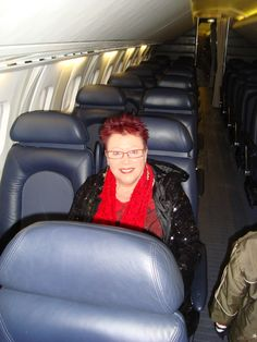 Me sitting in a seat on Concorde in Manchester Airport