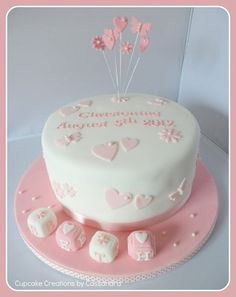 Baby Girls Christening cake