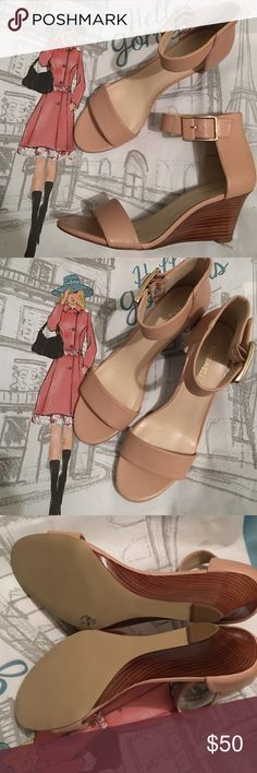 Offers Welcome Nine West Nude Wedge Sandals size 9 M- New never worn . True to size Nine West Shoes Heels