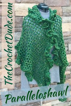 Free crochet shawl pattern: Paralleloshawl - The Crochet Dude