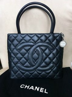 Chanel Bag Navy Blue Quilted Caviar Leather