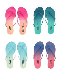 Ombre TKEES blends sandals in 6 summery shades