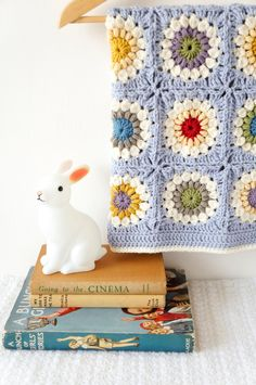 Sunshine Granny Square Baby Blanket Crochet door LittleDoolally, $4,99