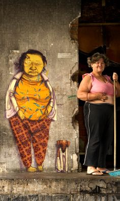 Street Artists: there's a lot of work from the world wide famous grafitti twins Os Gemeos in the city of São Paulo