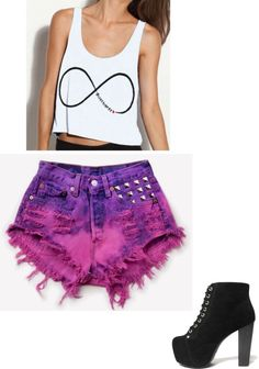 """ifinity"" by oliviaweigel on Polyvore love those shorts and the top"