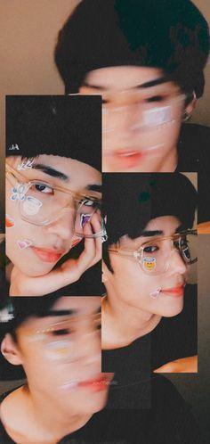 Black Aesthetic Wallpaper, Aesthetic Wallpapers, Kim Song, Changmin The Boyz, Ideal Boyfriend, Overlays Instagram, Cute Boy Photo, K Wallpaper, Face Yoga