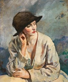 Sir William Orpen ( British Painter ) 1878 1931 Portrait of Miss Sinclair Woman Painting, Painting & Drawing, Irish Painters, L'art Du Portrait, Portrait Paintings, Figurative Kunst, Irish Art, Gustav Klimt, Art Reproductions