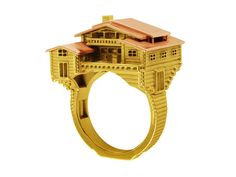 More architectural rings by Philippe Tournaire