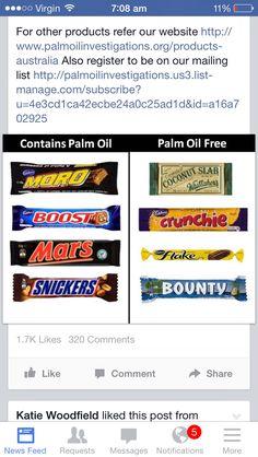 Palm oil free chocolate.