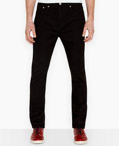 Levi's 522 Slim-Fit Tapered Jet-Wash Jeans - Jeans - Men - Macy's
