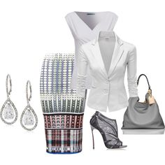 A fashion look from August 2014 featuring Doublju blazers, Clover Canyon skirts and Casadei ankle booties. Browse and shop related looks.