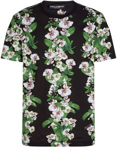 Dolce & Gabbana Floral Geometric T-Shirt Floral Suit Men, Chino Shorts, Harrods, Mens Suits, Floral Tops, Men Casual, Pure Products, Mens Tops, Shirts