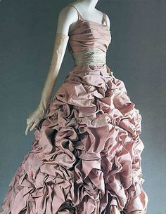 """""""Tourterelle"""" House of Dior  (French, founded 1947) Designer: Christian Dior Date: fall/winter 1948–49"""