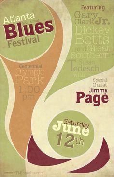 Atlanta Blues Festival - Poster Series by Kyle Weik, via Behance