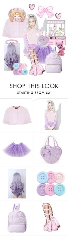 """""""Light pink and purple"""" by dazzling-pink-elaina ❤ liked on Polyvore featuring Lilly e Violetta and Y.R.U."""
