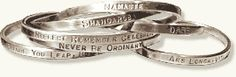 """Michelle Dahlstrand bought bracelets from Pam Kehoe Peterson. Michelle says """"met Pam at the Bayou City Art Festival and bought a bracelet that says 'Live the life you've imagined' - love all of her stuff!"""""""