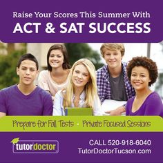 Are you or your Tucson student entering their junior year in August? Or maybe your senior wants to take another try at the ACT or SAT one last time? The next ACT test is September 10, 2016 and next SAT test is October 1, 2016. Why not get that test prep done during the summer so students are not balancing  school work, homework, sports, and extra-curricular activities while trying to prepare for college testing?