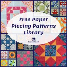 Free paper piecing patterns to print. Beginner-friendly fully illustrated instructions in multiple sizes for each design.