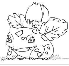 Print 002 ivysaur pokemon coloring pages