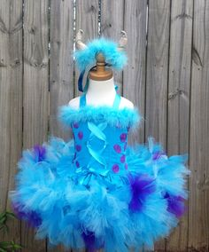 Sully monsters inc inspired corset and pettitutu