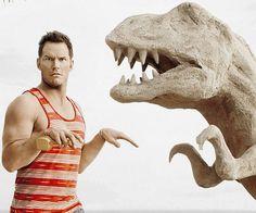 Chris Pratt T Rex Jurassic World