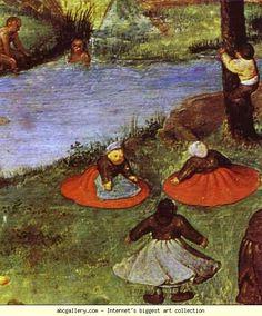 Pieter Bruegel the Elder. Children's Games. Detail. 1560
