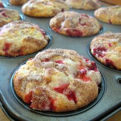 Fresh Strawberry Muffins | Real Mom Kitchen - I added a little more milk, as the batter was very thick. And forgot the vanilla. Whomp whomp. Still delicious!