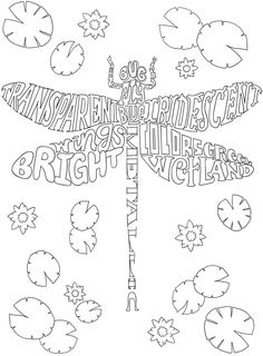 Creative Haven NATURE WHIMSY A WORDPLAY Coloring Book By Jessica Mazurkiewicz Page 1