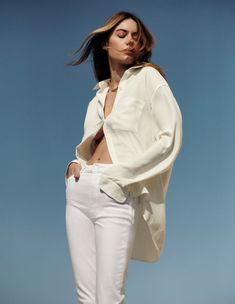 White Fashion, Denim Fashion, Camille Rowe Style, Devon Lee, Zoe Kravitz, Jane Birkin, Natural Makeup Looks, My Muse, White Denim