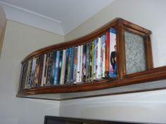 Custom made dvd rack and shelf created using galvanised iron and copper. Galvanized Iron, Decor, Home, Shelves, Storage, Dvd Rack, Rack, Home Decor