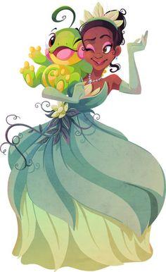 princesas-disney-pokemon-crossover-tiara-e-politoed-por-Krista Nicholson.