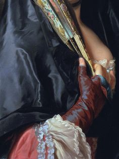The Lady with the Veil (detail,1768) Alexander Roslin.