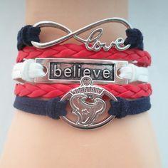 Love Houston Texans Believe Bracelet - Free Shipping