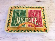 Vintage Bicycle Holiday Playing Cards  / by handpickedtreasures8
