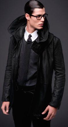 b625034d270d Emilio Flores, Joan Pedrola   Pete Bolton are Dressed in Black for Emporio  Armani Fall Winter 2012